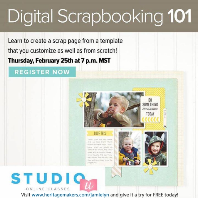 Digital Scrapbooking 101 - 02252016 - Jamie